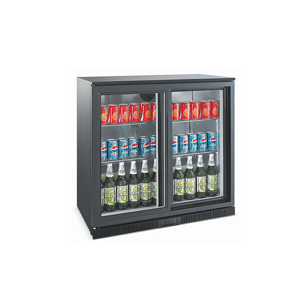 Sliding Door Commercial Beer Refrigerator , 208L Mini Beverage Cooler