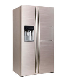 Çin 598L Side By Side Refrigerator Freezer Super Freezing CE Approval With Ice Maker And Home Bar Fabrika